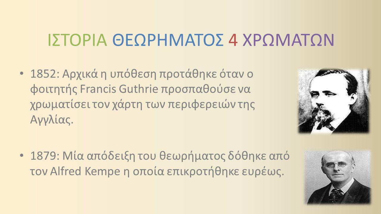 ΙΣΤΟΡΙΑ ΘΕΩΡΗΜΑΤΟΣ 4 ΧΡΩΜΑΤΩΝ