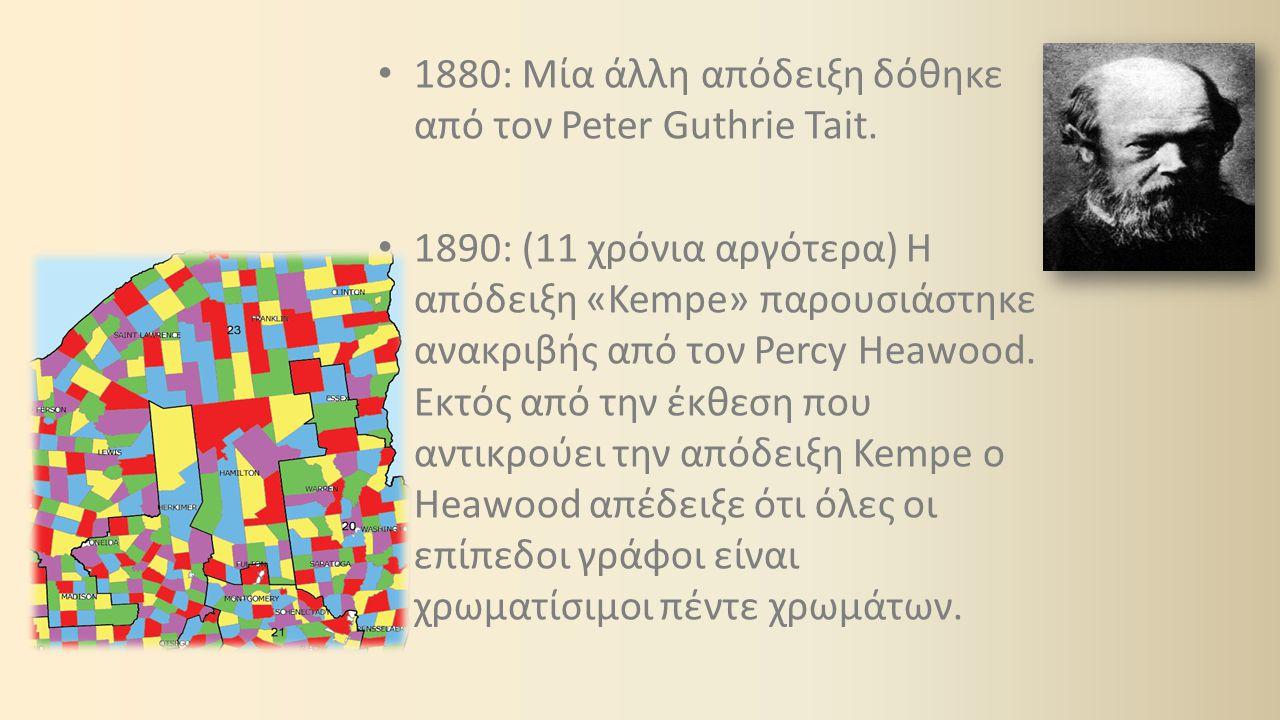 1880: Μία άλλη απόδειξη δόθηκε από τον Peter Guthrie Tait.