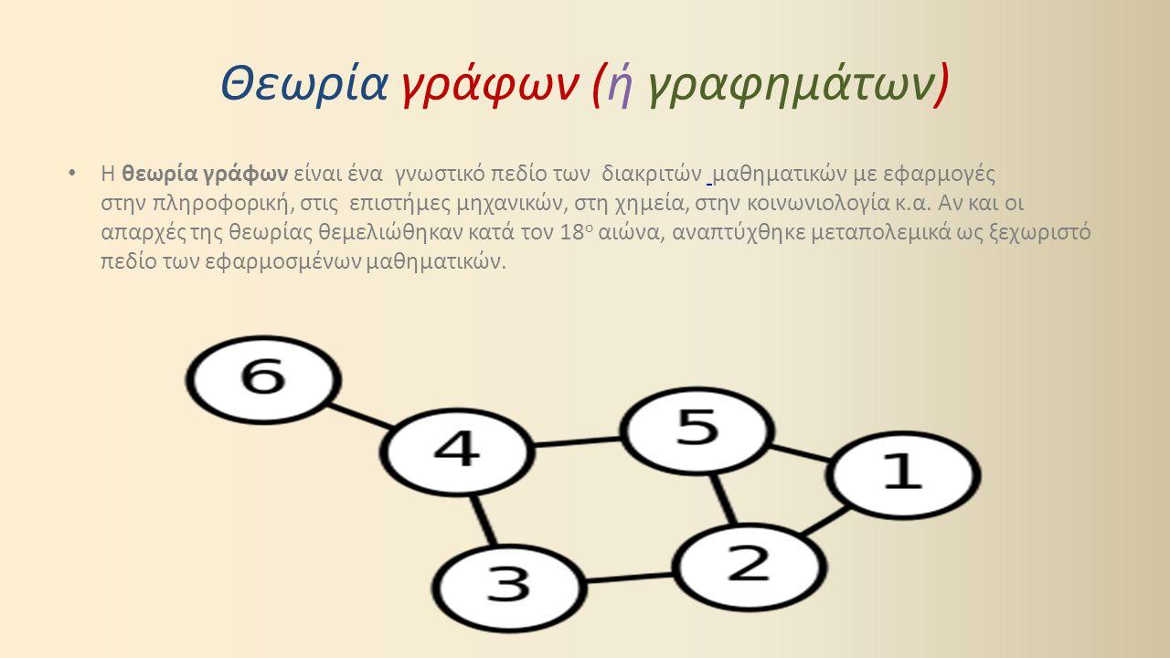 Θεωρία γράφων (ή γραφημάτων)