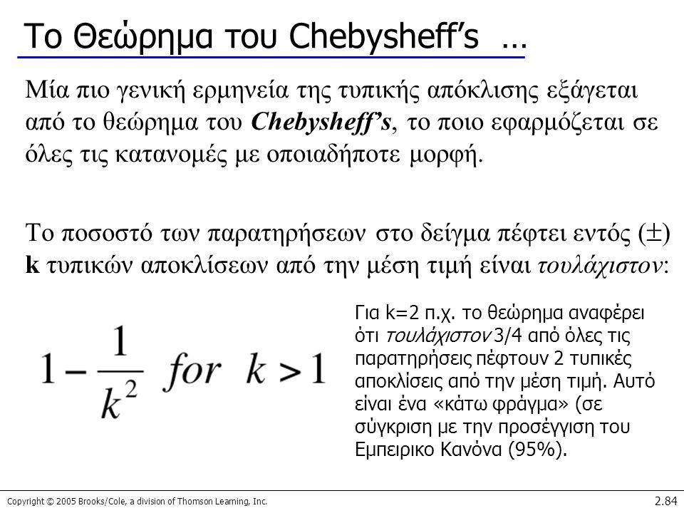 Το Θεώρημα του Chebysheff's …