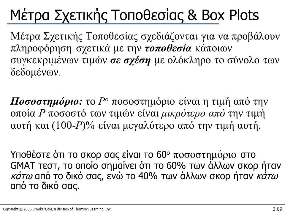 Μέτρα Σχετικής Τοποθεσίας & Box Plots