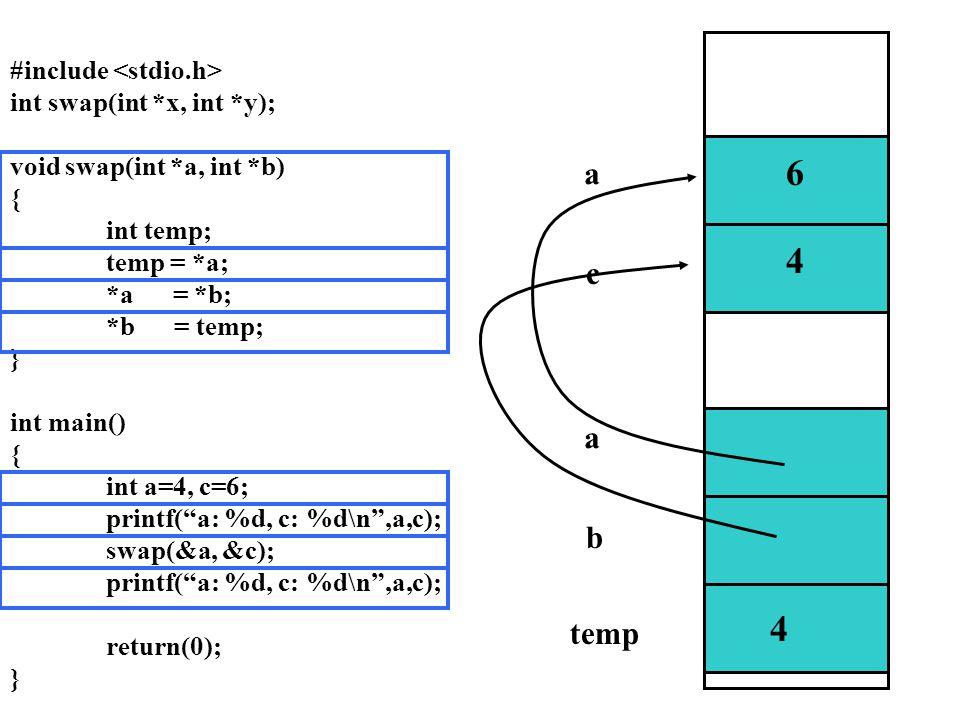 6 4 4 6 4 a c a b temp #include <stdio.h>