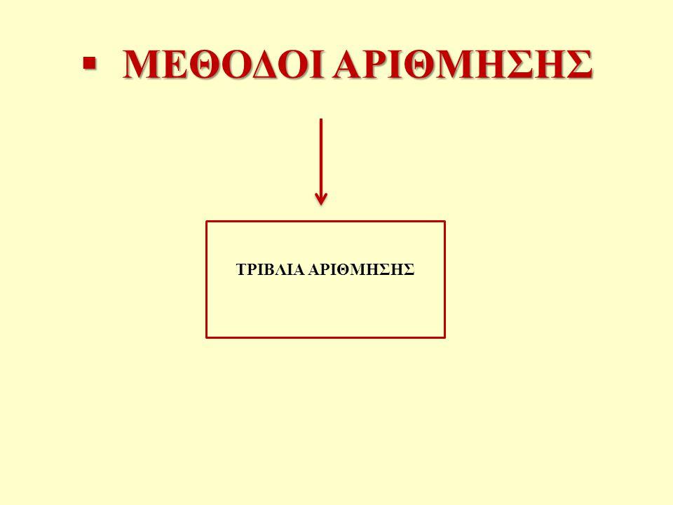ΜΕΘΟΔΟΙ ΑΡΙΘΜΗΣΗΣ ΤΡΙΒΛΙΑ ΑΡΙΘΜΗΣΗΣ