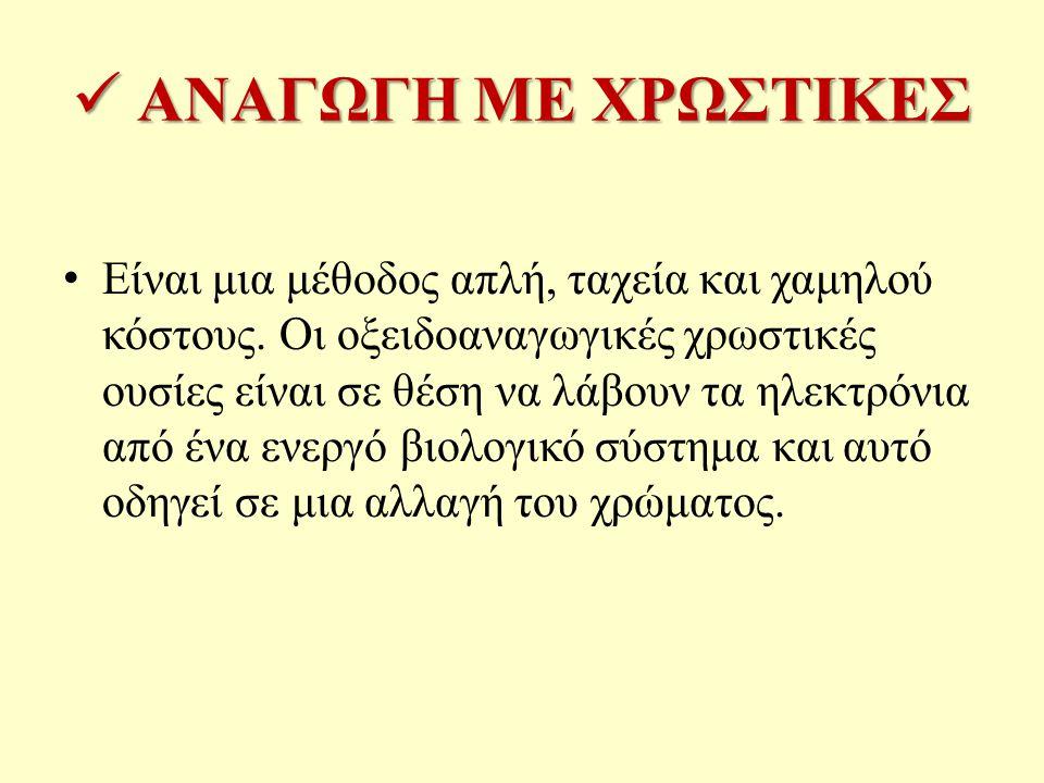 ΑΝΑΓΩΓΗ ΜΕ ΧΡΩΣΤΙΚΕΣ