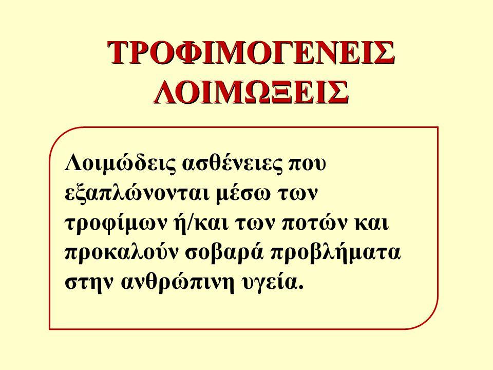 ΤΡΟΦΙΜΟΓΕΝΕΙΣ ΛΟΙΜΩΞΕΙΣ