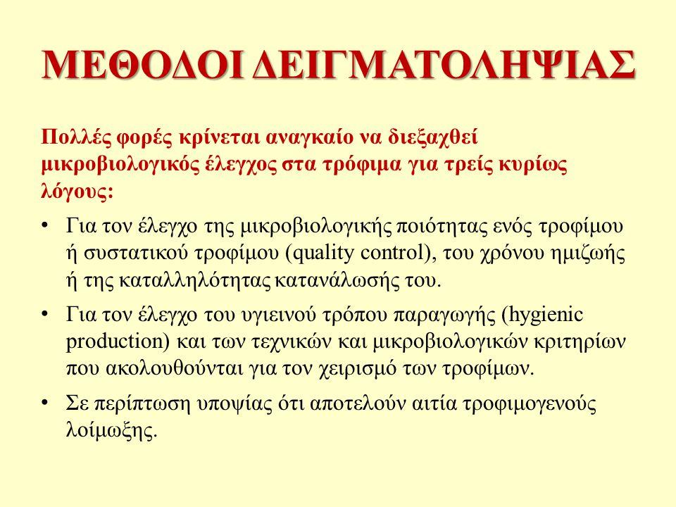 ΜΕΘΟΔΟΙ ΔΕΙΓΜΑΤΟΛΗΨΙΑΣ
