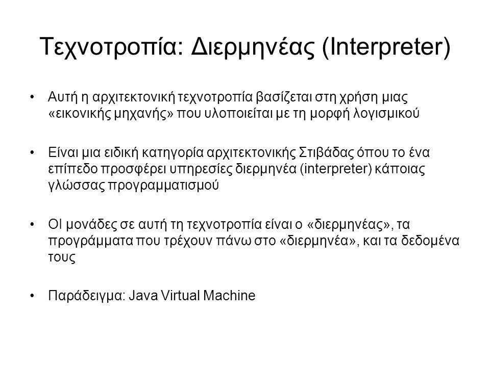 Τεχνοτροπία: Διερμηνέας (Interpreter)