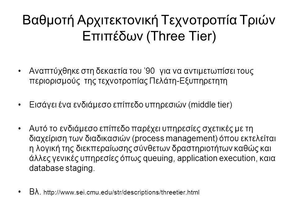 Βαθμοτή Αρχιτεκτονική Τεχνοτροπία Τριών Επιπέδων (Three Tier)