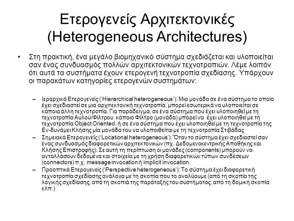 Ετερογενείς Αρχιτεκτονικές (Heterogeneous Architectures)