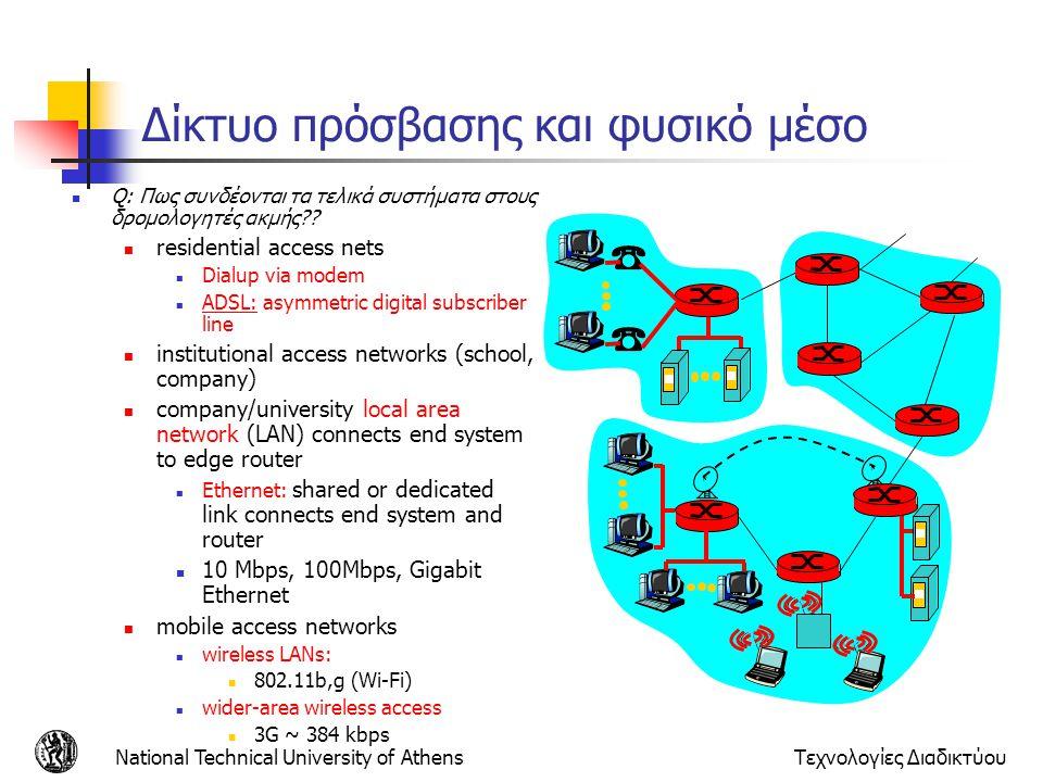 Δίκτυο πρόσβασης και φυσικό μέσο