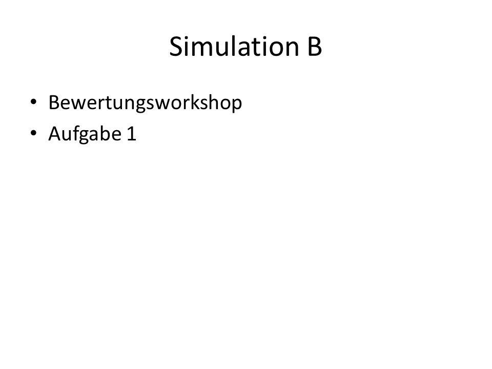 Simulation B Bewertungsworkshop Aufgabe 1