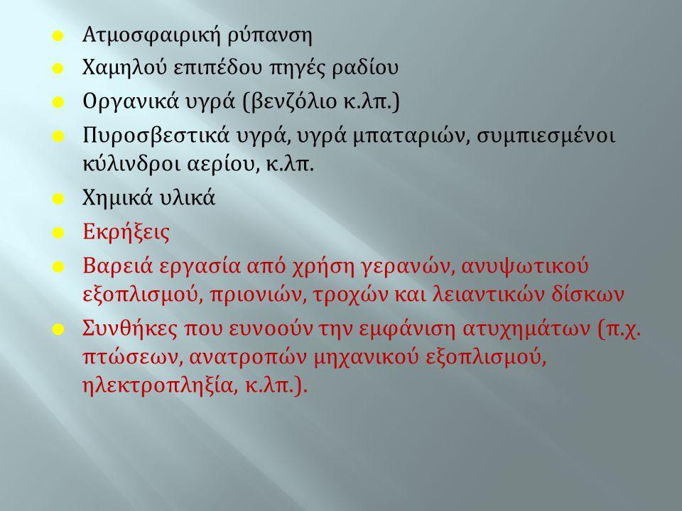 Οργανικά υγρά (βενζόλιο κ.λπ.)