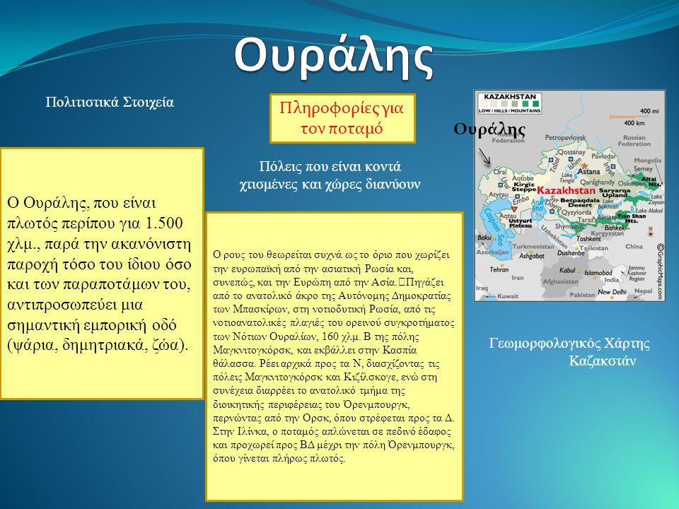 Ουράλης Πληροφορίες για τον ποταμό Ουράλης