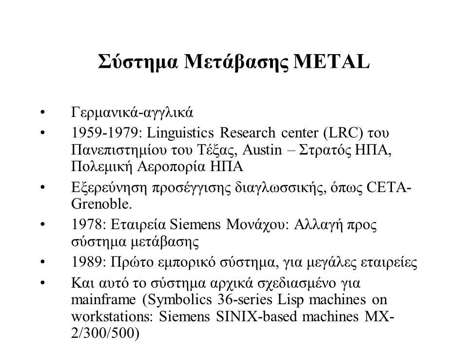 Σύστημα Μετάβασης METAL