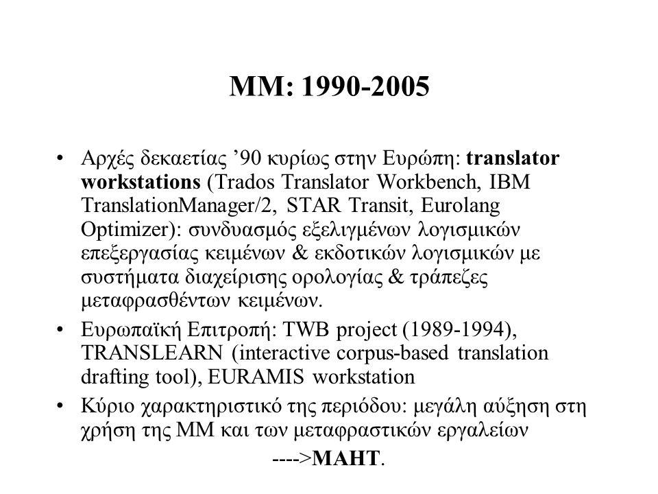 ΜΜ: 1990-2005