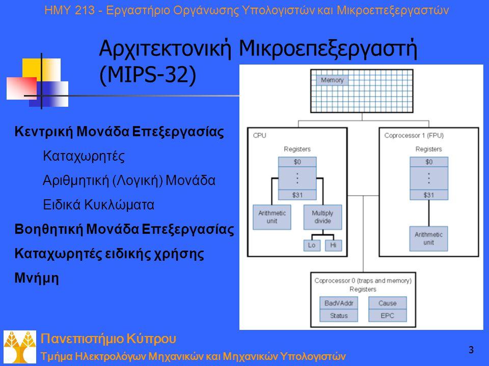 Αρχιτεκτονική Μικροεπεξεργαστή (MIPS-32)