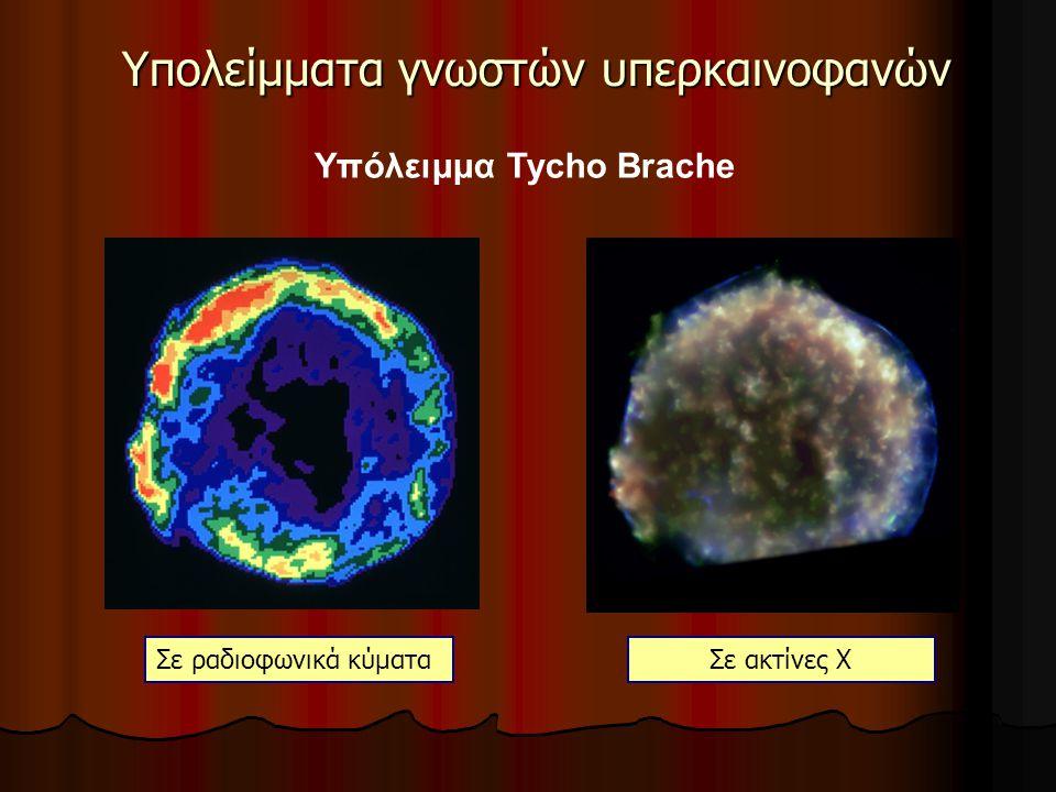 Υπολείμματα γνωστών υπερκαινοφανών