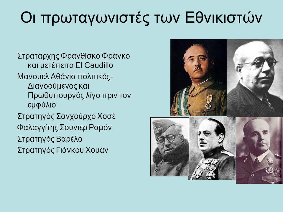 Οι πρωταγωνιστές των Εθνικιστών