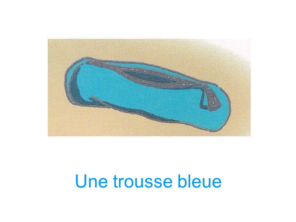 Une trousse bleue