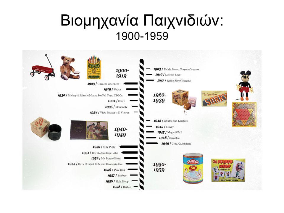 Βιομηχανία Παιχνιδιών: 1900-1959