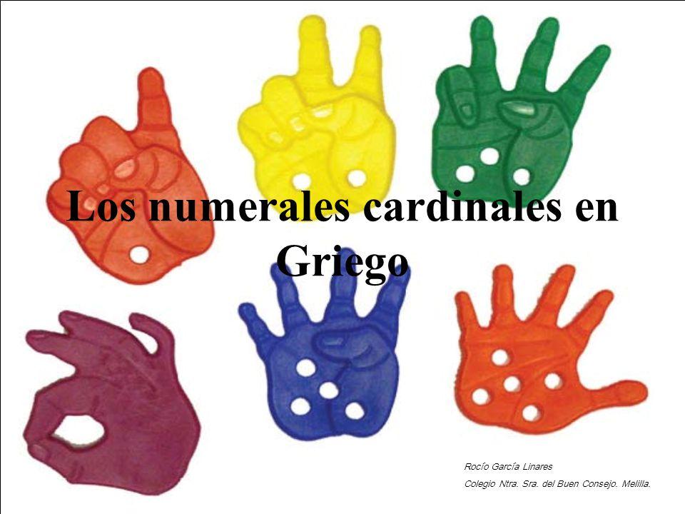 Los numerales cardinales en Griego