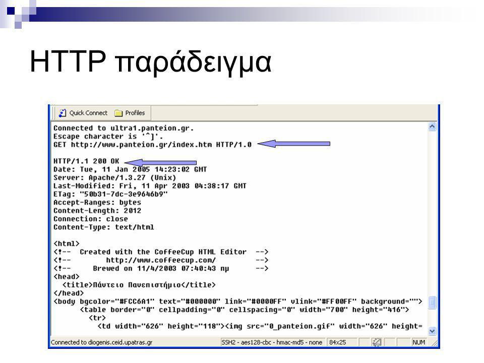 HTTP παράδειγμα