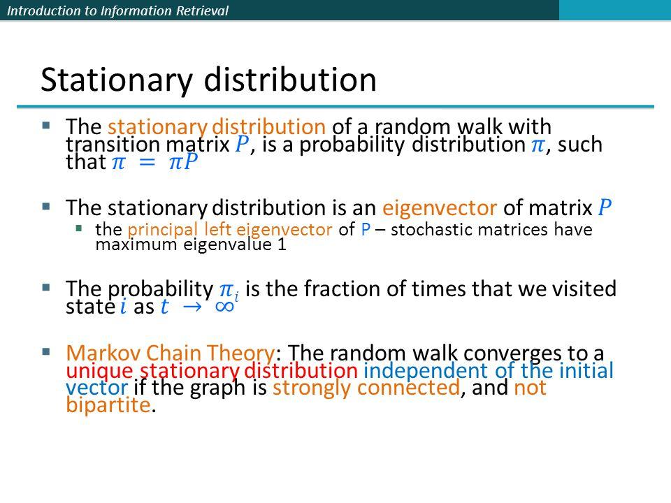 Stationary distribution