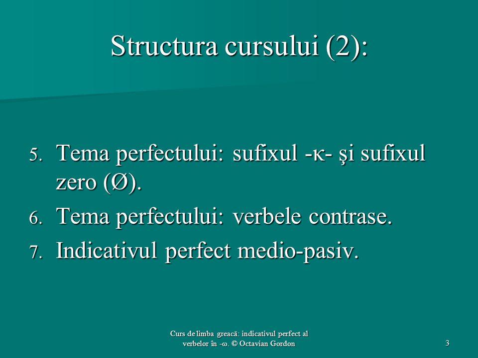 Structura cursului (2):