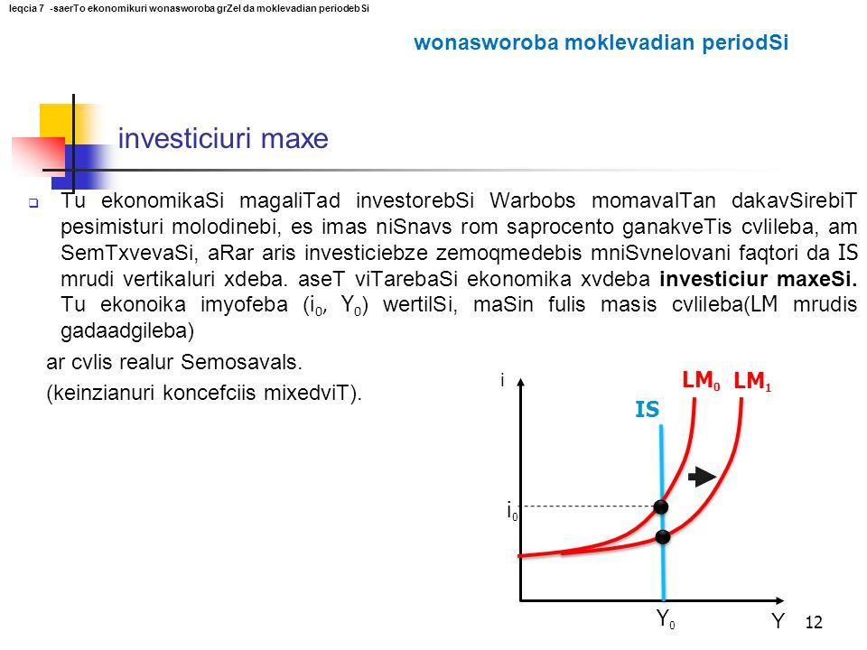 investiciuri maxe wonasworoba moklevadian periodSi