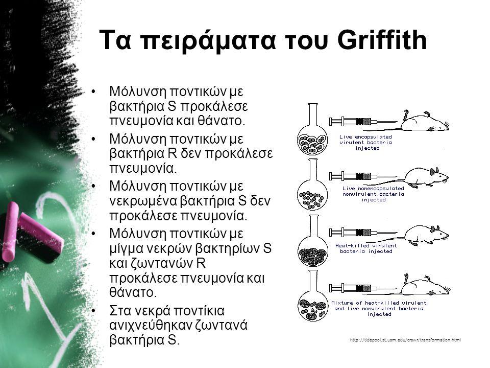 Τα πειράματα του Griffith