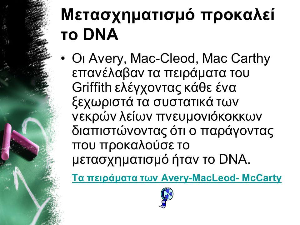 Μετασχηματισμό προκαλεί το DNA
