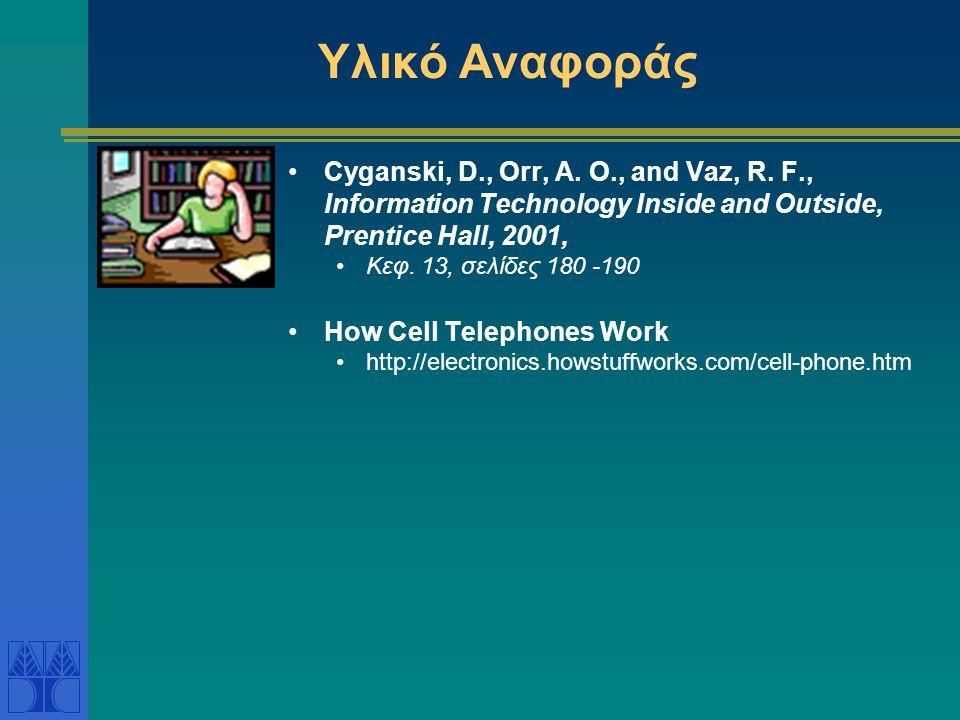 Υλικό Αναφοράς Cyganski, D., Orr, A. O., and Vaz, R. F., Information Technology Inside and Outside, Prentice Hall, 2001,