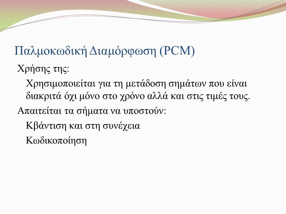 Παλμοκωδική Διαμόρφωση (PCM)