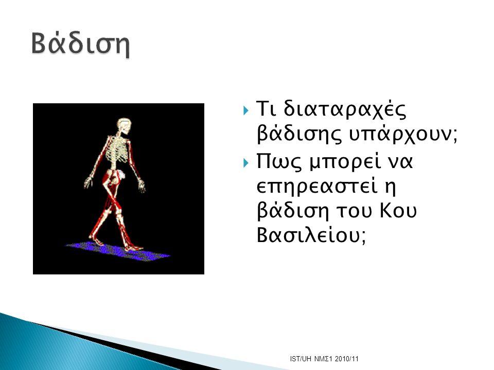 Βάδιση Τι διαταραχές βάδισης υπάρχουν;