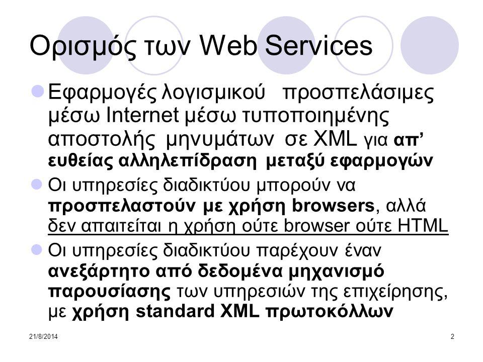 Ορισμός των Web Services