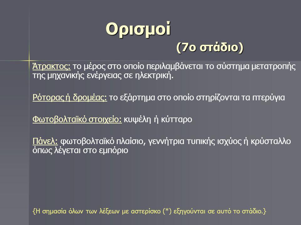 Ορισμοί (7ο στάδιο)