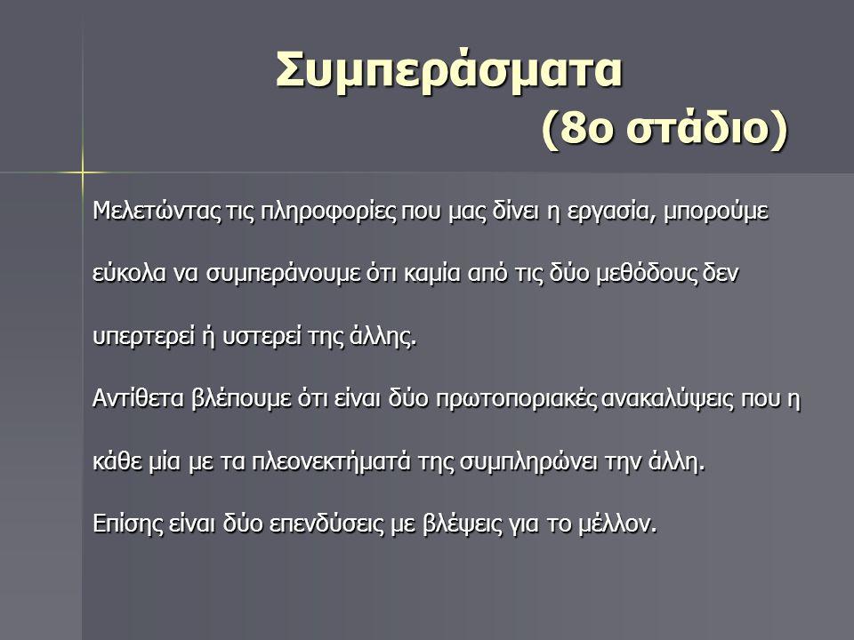 Συμπεράσματα (8ο στάδιο)