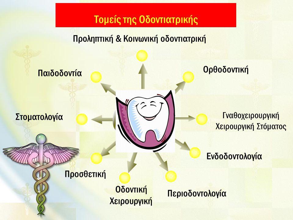 Τομείς της Οδοντιατρικής