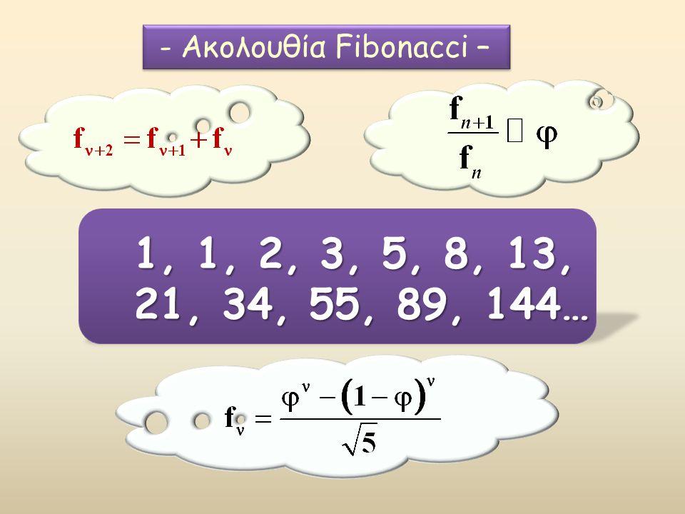 - Ακολουθία Fibonacci –