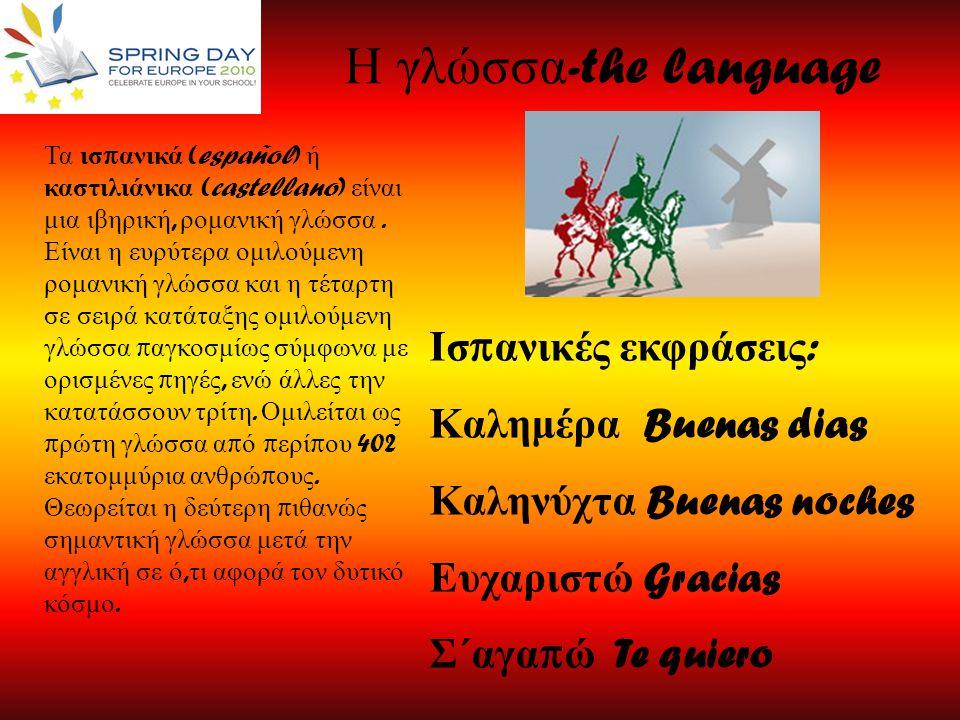 Η γλώσσα-the language Ισπανικές εκφράσεις: Καλημέρα Buenas dias