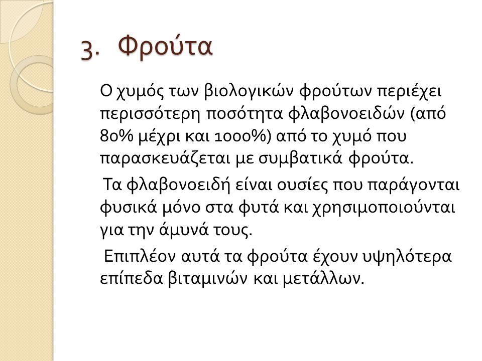 3. Φρούτα