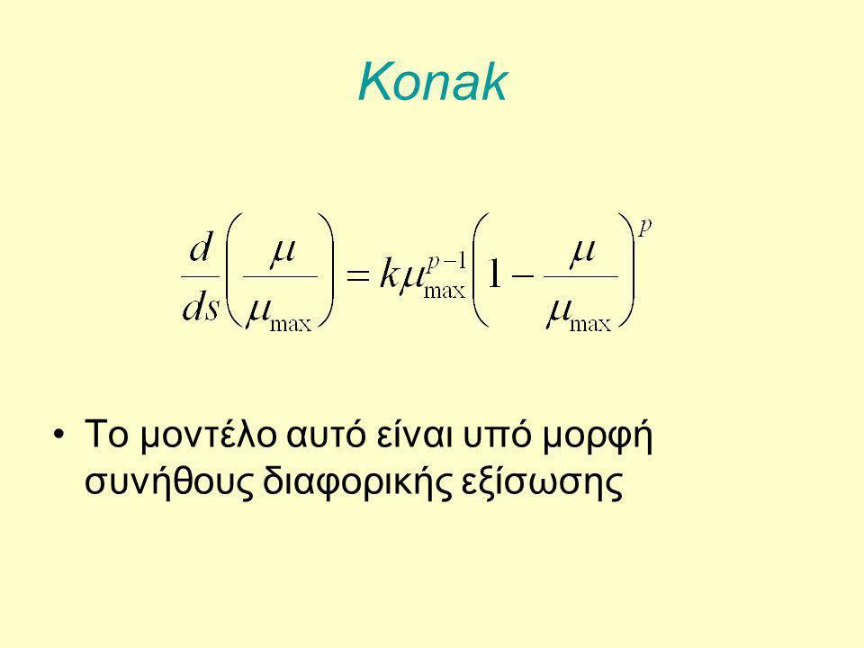 Konak Το μοντέλο αυτό είναι υπό μορφή συνήθους διαφορικής εξίσωσης