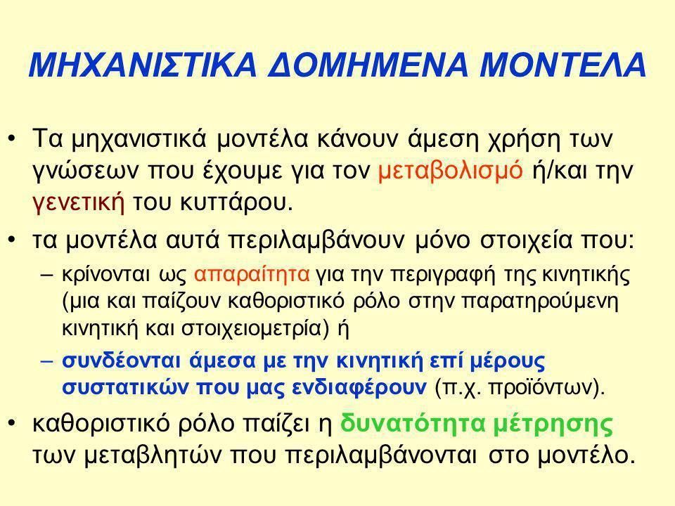ΜΗΧΑΝΙΣΤΙΚΑ ΔΟΜΗΜΕΝΑ ΜΟΝΤΕΛΑ