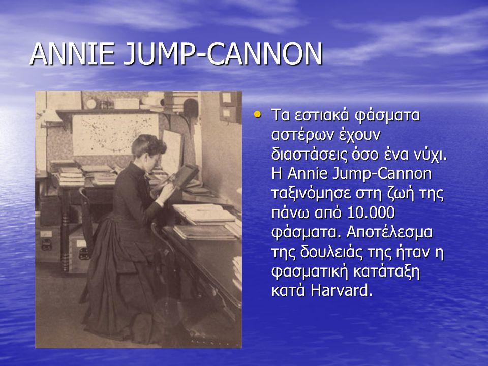 ANNIE JUMP-CANNON