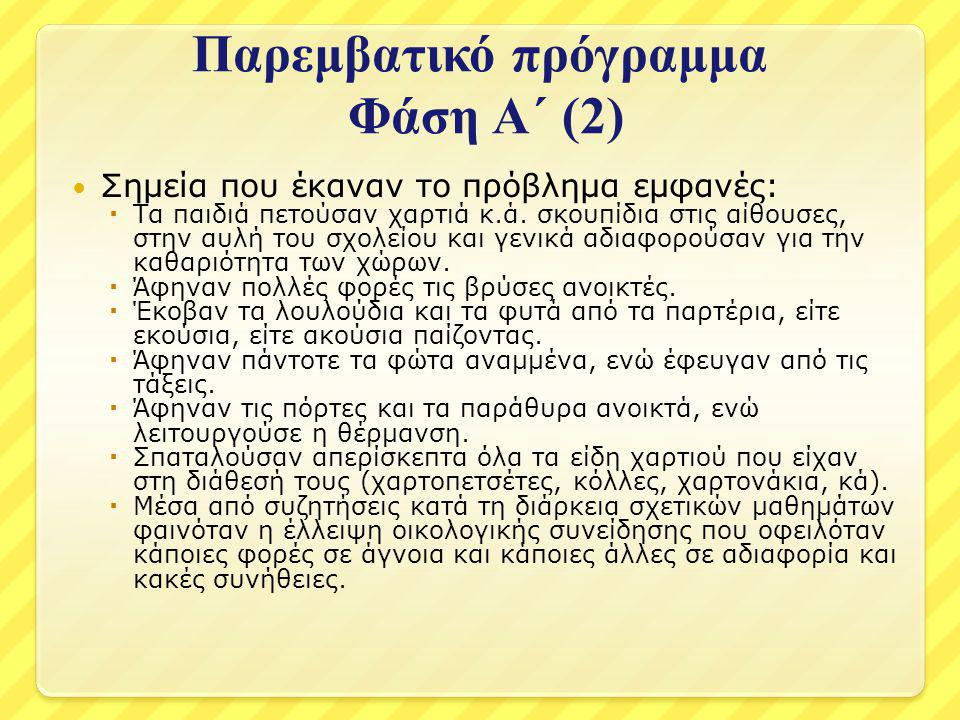 Παρεμβατικό πρόγραμμα Φάση Α΄ (2)