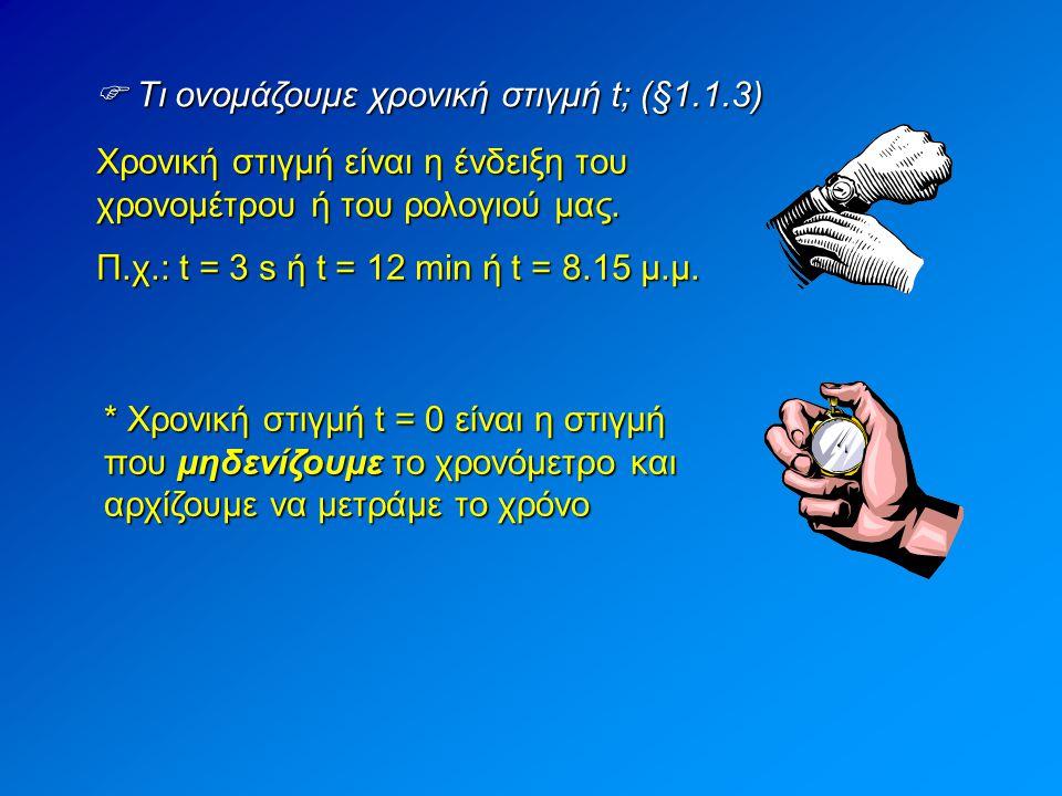  Τι ονομάζουμε χρονική στιγμή t; (§1.1.3)
