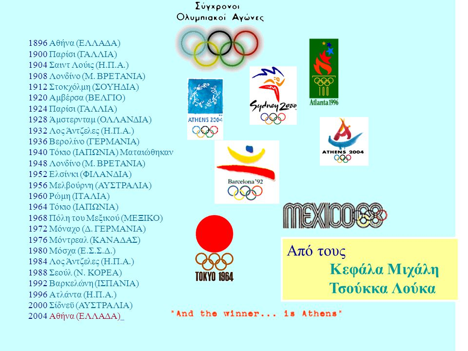 Η πρώτη Διεθνής Ολυμπιακή