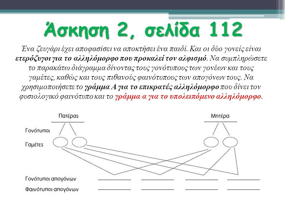 Άσκηση 2, σελίδα 112