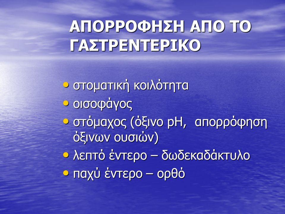 ΑΠΟΡΡΟΦΗΣΗ ΑΠΟ ΤΟ ΓΑΣΤΡΕΝΤΕΡΙΚΟ