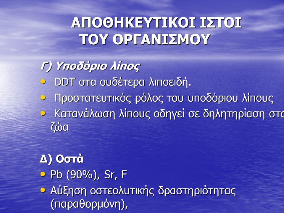 AΠΟΘΗΚΕΥΤΙΚΟΙ ΙΣΤΟΙ ΤΟΥ ΟΡΓΑΝΙΣΜΟΥ